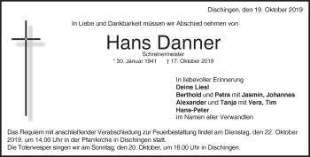Anzeige Hans Danner