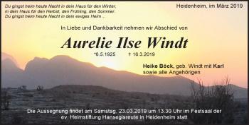 Anzeige Aurelie Windt