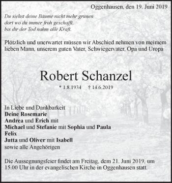 Anzeige Robert Schanzel