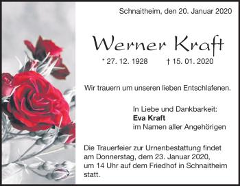 Anzeige Werner Kraft