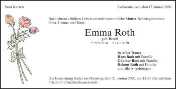 Anzeige Emma  Roth