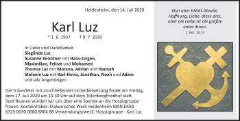 Anzeige Karl Luz
