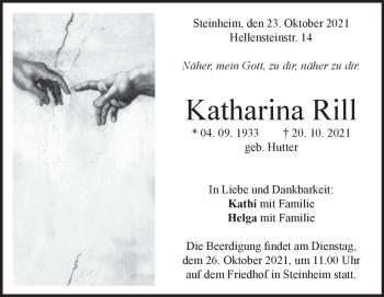 Anzeige Katharina Rill