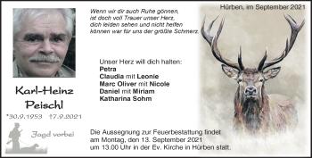 Anzeige Karl-Heinz Peischl