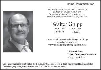 Anzeige Walter Grupp