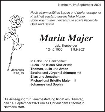 Anzeige Maria Majer