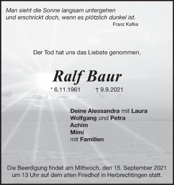 Anzeige Ralf Baur