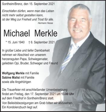 Anzeige Michael Merkle