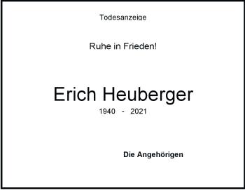 Anzeige Erich Heuberger